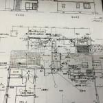 リフォーム前の1階平面図。LDKとつづき間の和室がありました。この間仕切り壁をなくしました。
