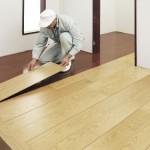 床:重ね貼り